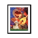 Mandolin / Lhasa Apso #4 Framed Panel Print