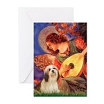 Mandolin / Lhasa Apso #4 Greeting Cards (Pk of 10)