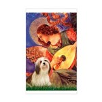 Mandolin / Lhasa Apso #4 Sticker (Rectangle)