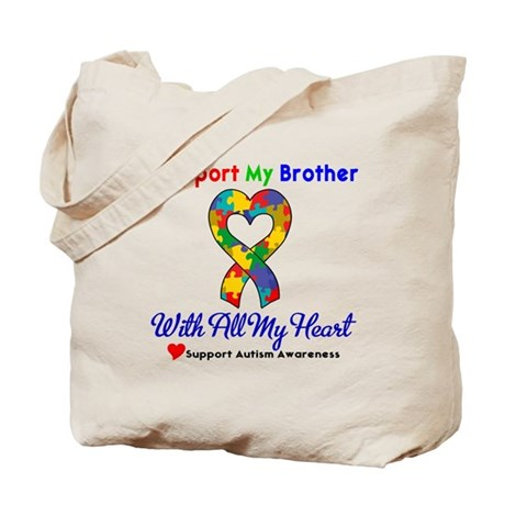 Autism ISupportMy Brother Tote Bag