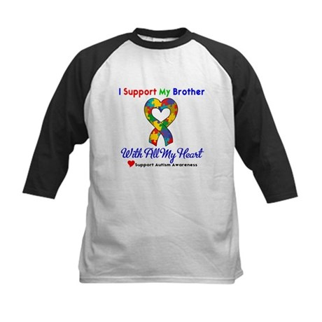 Autism ISupportMy Brother Kids Baseball Jersey