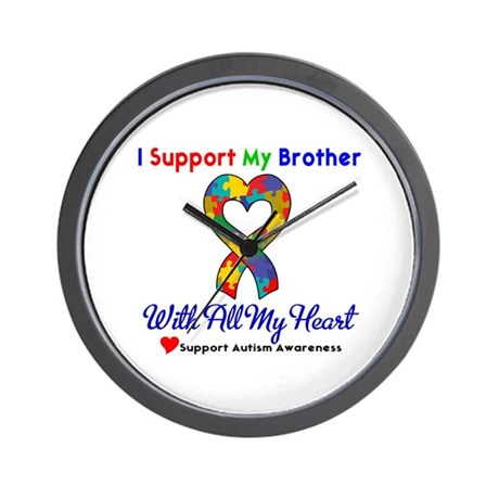 Autism ISupportMy Brother Wall Clock