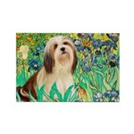 Irises / Lhasa Apso #4 Rectangle Magnet