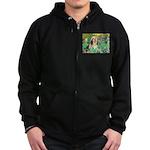 Irises / Lhasa Apso #4 Zip Hoodie (dark)