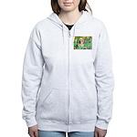 Irises / Lhasa Apso #4 Women's Zip Hoodie