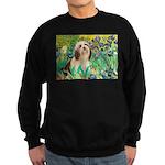 Irises / Lhasa Apso #4 Sweatshirt (dark)