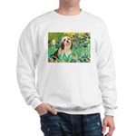 Irises / Lhasa Apso #4 Sweatshirt