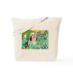 Irises / Lhasa Apso #4 Tote Bag