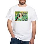 Irises / Lhasa Apso #4 White T-Shirt