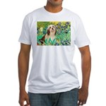 Irises / Lhasa Apso #4 Fitted T-Shirt