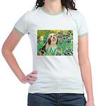 Irises / Lhasa Apso #4 Jr. Ringer T-Shirt
