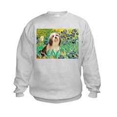 Irises / Lhasa Apso #4 Kids Sweatshirt