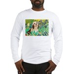 Irises / Lhasa Apso #4 Long Sleeve T-Shirt