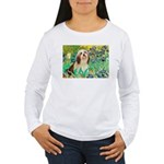 Irises / Lhasa Apso #4 Women's Long Sleeve T-Shirt