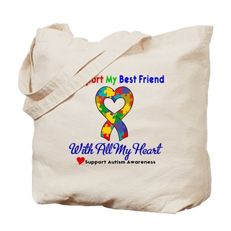 Autism ISupportMy Best Friend Tote Bag