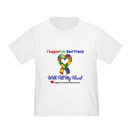 Autism ISupportMy Best Friend Toddler T-Shi