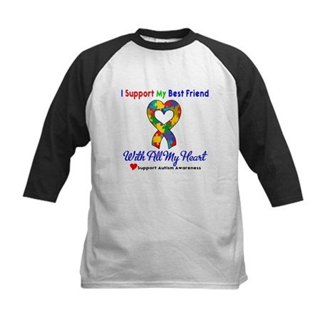 Autism ISupportMy Best Friend Kids Baseball Jersey