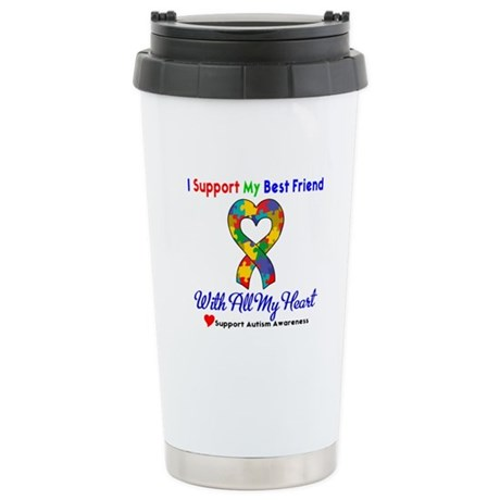 Autism ISupportMy Best Friend Ceramic Travel Mug