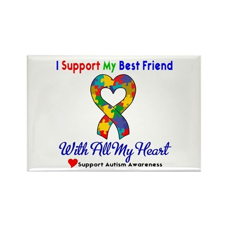 Autism ISupportMy Best Friend Rectangle Magnet