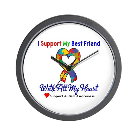 Autism ISupportMy Best Friend Wall Clock