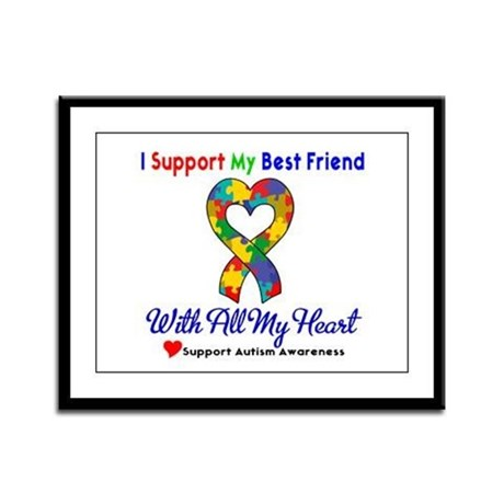 Autism ISupportMy Best Friend Framed Panel Print