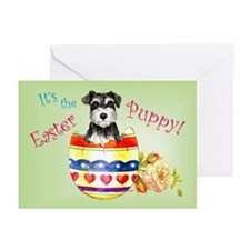 Easter Miniature Schnauzer Greeting Cards (Pk of 1