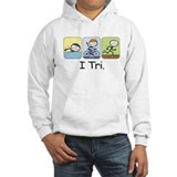 Triathlon Stick Figure Jumper Hoodie