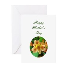 Happy Mother's day greeting card with yellow flowe