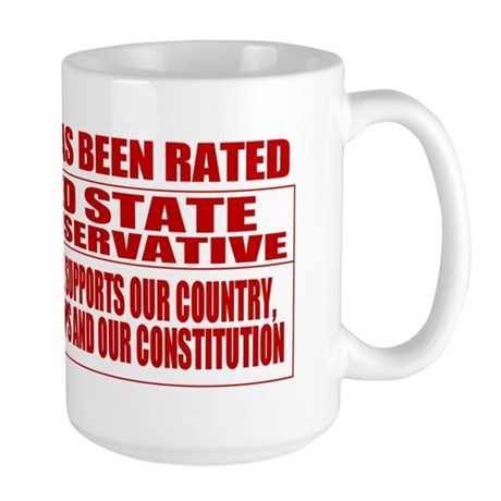 Rated R Red State Conservative Large Mug