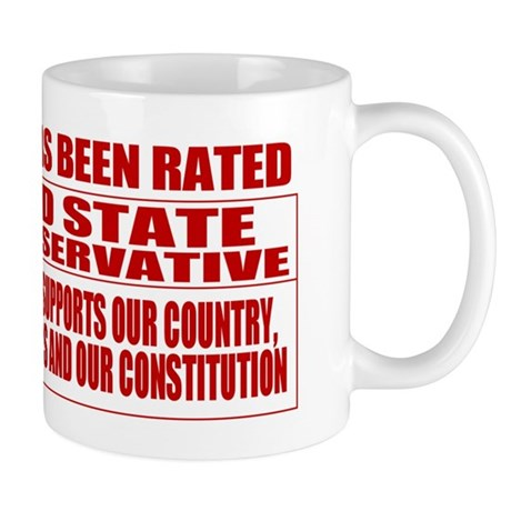 Rated R Red State Conservative Mug