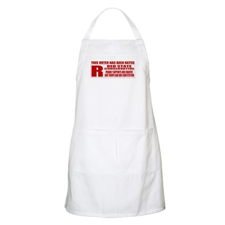 Rated R Red State Conservative BBQ Apron