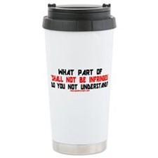 SHALL NOT BE INFRINGED! Ceramic Travel Mug