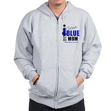 IWearBlue Mom Zip Hoodie