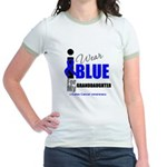 IWearBlue Granddaughter Jr. Ringer T-Shirt