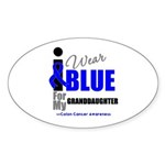 IWearBlue Granddaughter Oval Sticker (50 pk)