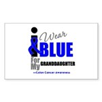 IWearBlue Granddaughter Rectangle Sticker 50 pk)