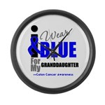 IWearBlue Granddaughter Large Wall Clock