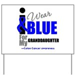 IWearBlue Granddaughter Yard Sign