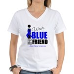 IWearBlue Friend Women's V-Neck T-Shirt