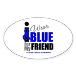 IWearBlue Friend Oval Sticker (50 pk)