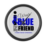 IWearBlue Friend Large Wall Clock