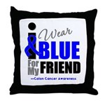 IWearBlue Friend Throw Pillow