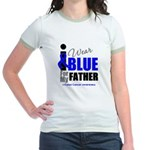 IWearBlue Father Jr. Ringer T-Shirt