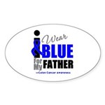 IWearBlue Father Oval Sticker (10 pk)