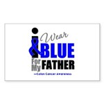 IWearBlue Father Rectangle Sticker 50 pk)