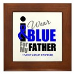 IWearBlue Father Framed Tile