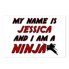 my name is jessica and i am a ninja Postcards (Pac