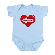 ONE WAY LOVE Infant Bodysuit