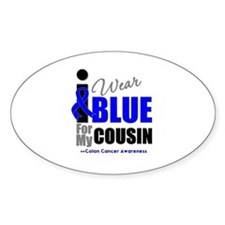 IWearBlue Cousin Oval Decal