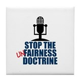 Unfairness Doctrine Tile Coaster